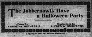Jobbernowls Party: Asheville Citizen 10/28/1899