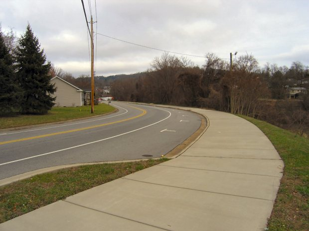 The general area today - Choctaw Street near South French Broad Avenue.