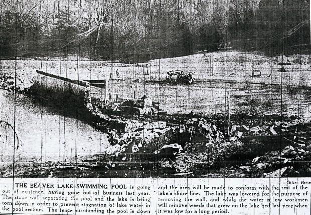 beaver lake drained