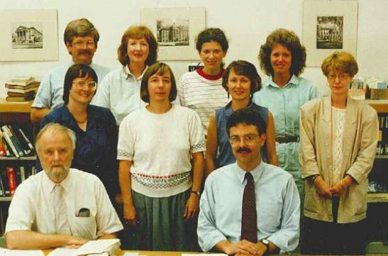 Pack Memorial Library Reference Staff 1990