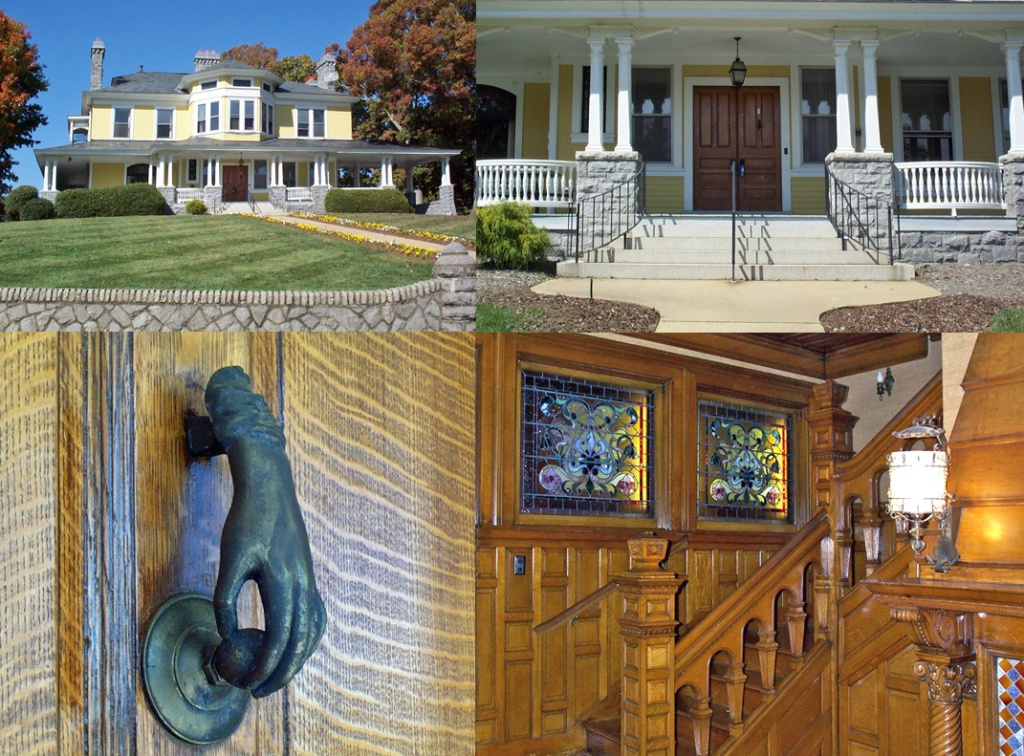 Exterior and Interior Views of the James Edwin Rumbough home on Zillicoa Street in Montford.