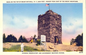 Mount Mitchell post card