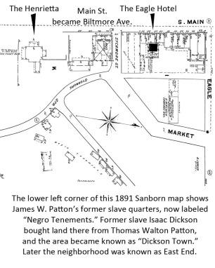 James W. Patton former slave quarters
