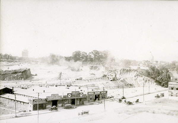 Image #1: Demolition site. (#O095-DS, from MS285, Mundy Collection. North Carolina Collection at Pack Memorial Library.)