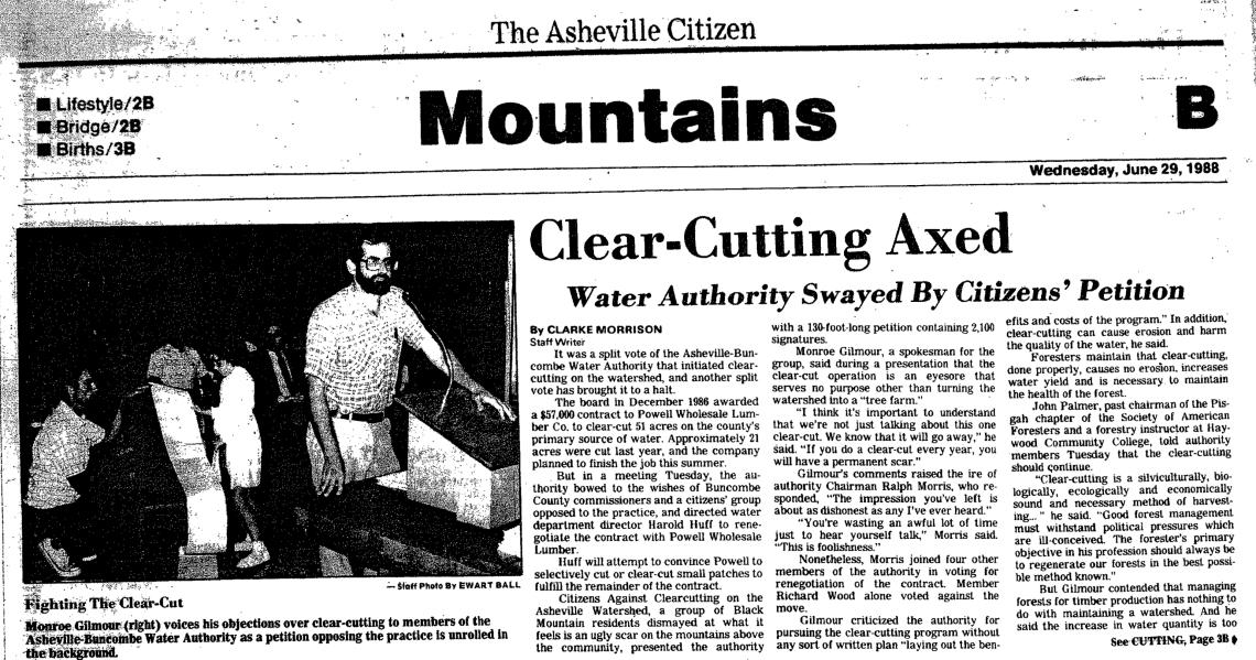 """Asheville Citizen,"" June 29, 1988"