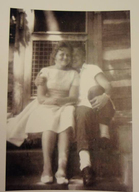 J.C. and Lorraine settles on their honeymoon at Hickory Nut Gap farm, 1964. Lorraine Houck Settles personal collection.